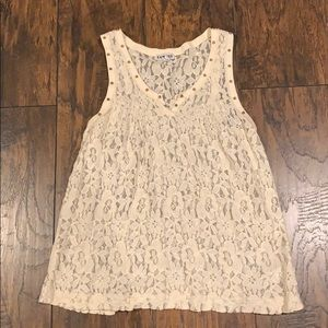 White Lace Tank Top by Express